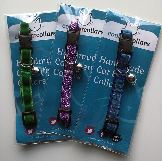 Cool Cat Collars are handmade in the UK.